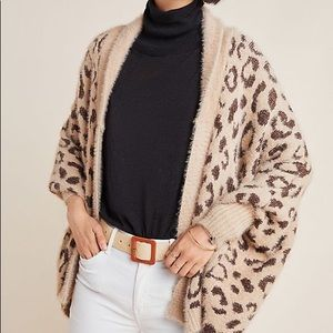 Anthropologie leopard sweater